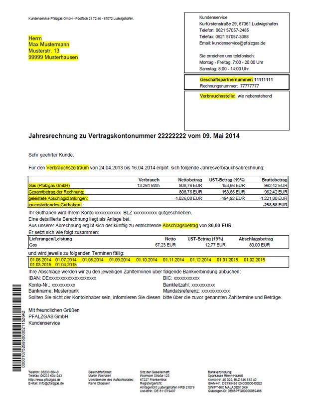 Abrechnung Amazon Gmbh : rund um ihre abrechnung pfalzgas gmbh ~ Themetempest.com Abrechnung